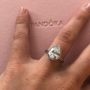 Pandora Large Teardrop Ring size 48. Like new.